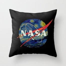 Starry Nasa Throw Pillow