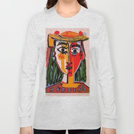 Head of a woman in a Hat Picasso Long Sleeve T-shirt