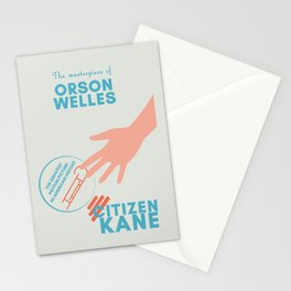 Citizen Kane, minimal movie poster, Orson Welles film, hollywood masterpiece, classic cinema Stationery Cards