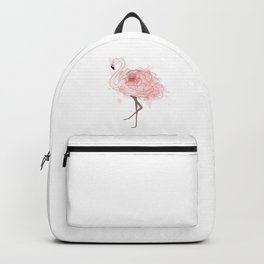 Red Rose Flamingo Backpack