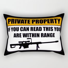 if you can read this you are within range fun lol 2018 words art warning Rectangular Pillow