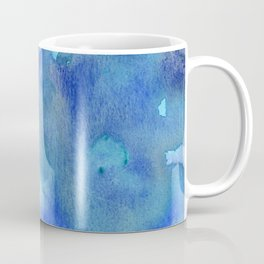 Blue Abstract Watercolor Painting Coffee Mug