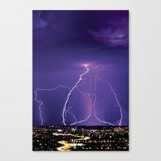 Lightening Canvas Print