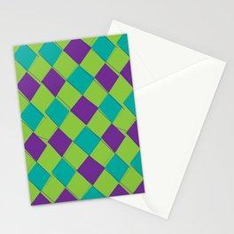Modern Argyle 2 Stationery Cards