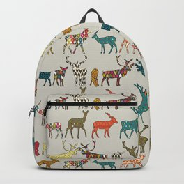patterned deer stone Backpack