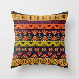 Boho Geometric Pattern 7 Throw Pillow