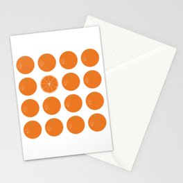 Orange Burst Stationery Cards