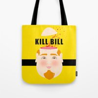 kill bill Tote Bags featuring Kill Bill by Frikaditas T-Shirts