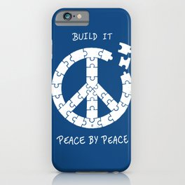 Peace By Peace iPhone Case