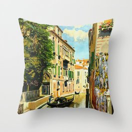 Venezia - Venice Italy Vintage Travel Throw Pillow