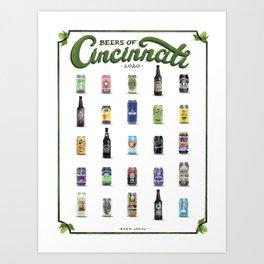 Beers of Cincinnati Art Print