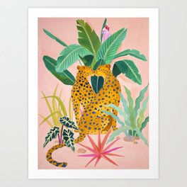 Cheetah Crush Art Print