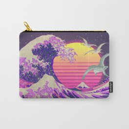 The Great Vapowave off Kanagawa - Hokusai Edit Carry-All Pouch
