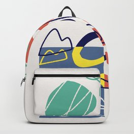 Under the sea coral abstract Backpack