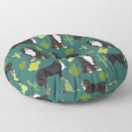 Bernese Moutnain Dog Cactus Print - bernese mountain dog, dog, cactus, arizona, desert Floor Pillow