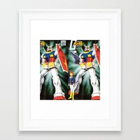 gundam Framed Art Prints featuring Gundam by Danny Rutledge