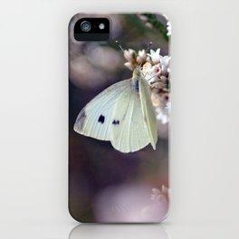 Dreamy Butterfly on Australian Coral Heath iPhone Case