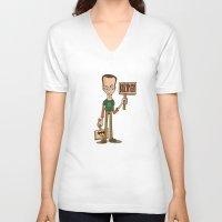 bazinga V-neck T-shirts featuring Bazinga by maykel nunes
