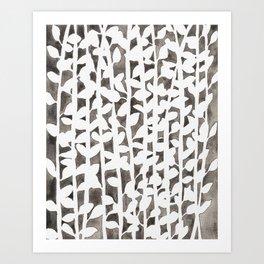 Plant Pattern #1 Art Print