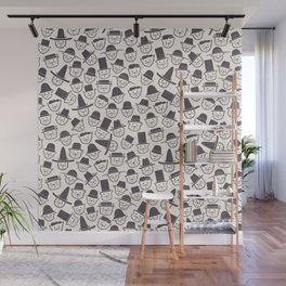 Cats With Hats Wall Mural