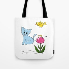 Smiling Cat Tote Bag