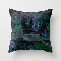 tote bag Throw Pillows featuring Vintage Camera Tote Bag by jessicaparkhurst