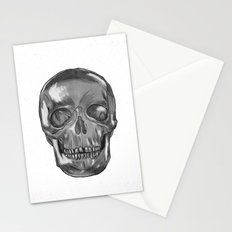 grungy skull Stationery Cards