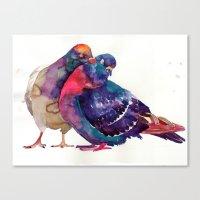 takmaj Canvas Prints featuring Pigeons by takmaj