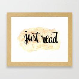JustRead Framed Art Print