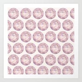 smokey purple diamond Art Print