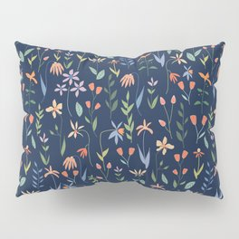 Wildflowers in the Air Navy Pillow Sham