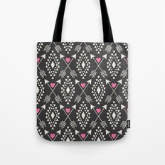Tribal Aztec with Hearts & Arrows Tote Bag