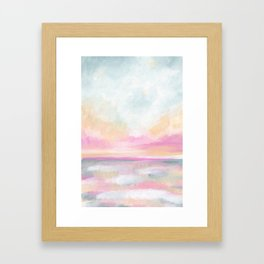 Peace, Love & Joy - Tropical Ocean Seascape Framed Art Print