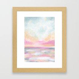 Peace, Love & Joy - Tropical Ocean Seascape Framed Art Print