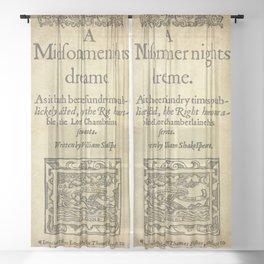 Shakespeare. A midsummer night's dream, 1600 Sheer Curtain