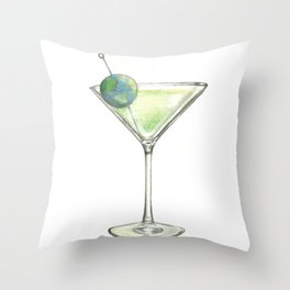 Big Martini in the sky Throw Pillow
