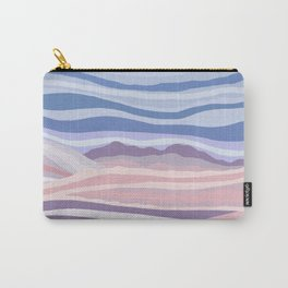 Abstract Pink and Blue Mountain Waves Carry-All Pouch