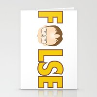 dwight schrute Stationery Cards featuring Dwight False by Alex Dutton