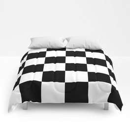 Large Checkered - White and Black Comforters