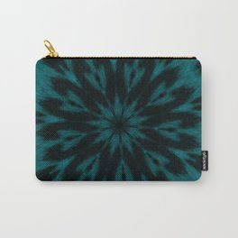 Spotted Leopard Teal Kaleidoscope Carry-All Pouch