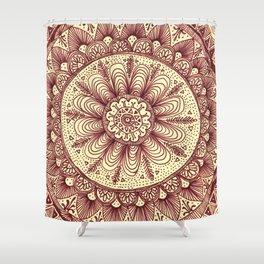 mandala: maroon Shower Curtain