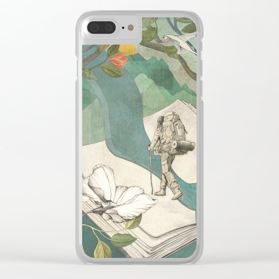 Nature Writing Clear iPhone Case