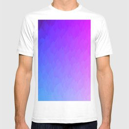 Purple, blue, and pink ombre flames T-shirt