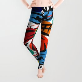 Joyful Life Abstract Art Illustration for Kids and Everyone Leggings