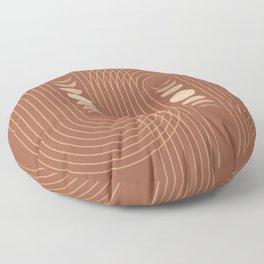 Mid Century Modern Geometric 9 (Moon phases) Floor Pillow