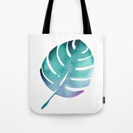 Tropical leaf in watercolor Tote Bag