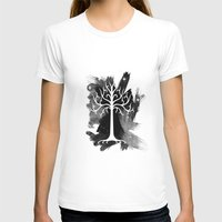 gondor T-shirts featuring White Tree Of Gondor by Icarusdie