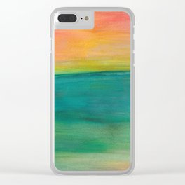 Ocean Sunset Series, 4 Clear iPhone Case