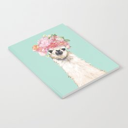 Llama with Flowers Crown #3 Notebook