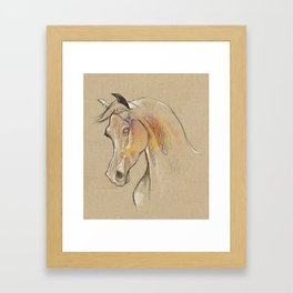 Horse sketch 01 Framed Art Print